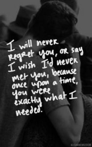 never-regret-breakup-quote