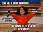 oprah morning texy
