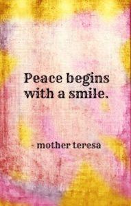peace smile quote