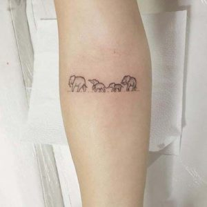 Family-Small-Elephant-Tattoo-Designs