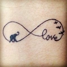 Infinity-Small-Elephant-Tattoo-Designs