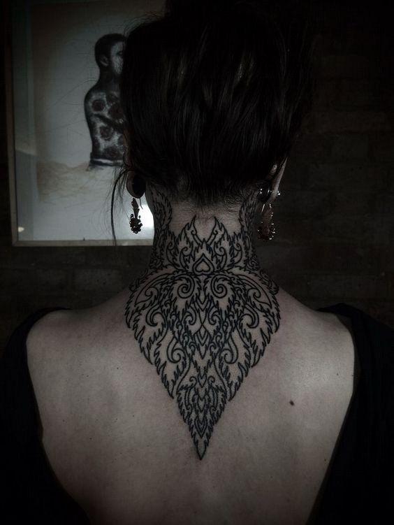 Animal-Back-of-neck-tattoos