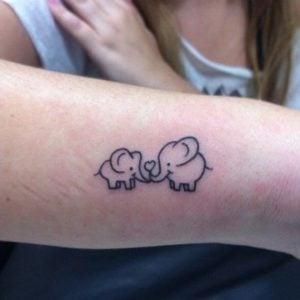 Love-Small-Elephant-Tattoo-Designs