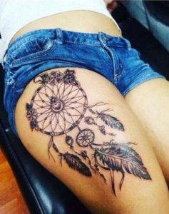 Thigh-dreamcatcher-tattoos