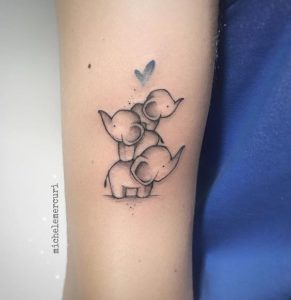 Three-Small-Elephant-Tattoo-Designs