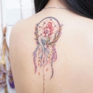 ariel-dreamcatcher-tattoos