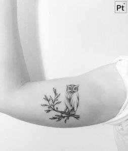 arm-branch-owl-tattoo
