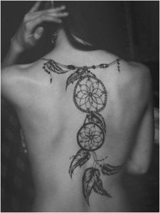 back-dreamcatcher-tattoos