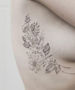 pretty Daisy Flower Tattoo