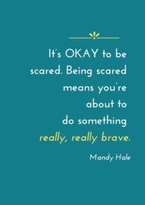 brave inspirational anxiety quote