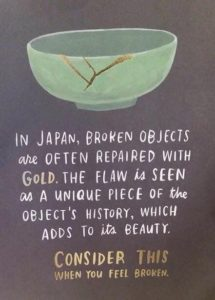 broken objects mental health quote