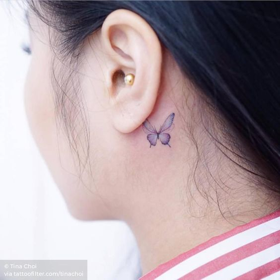 bee-behind-the-ear-tattoo