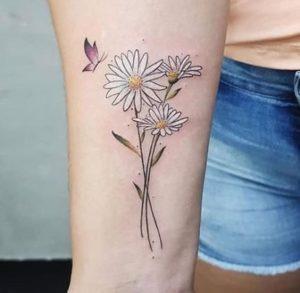 butterfly-daisy-flower-tattoo