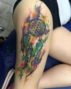 colorful-dreamcatcher-tattoos