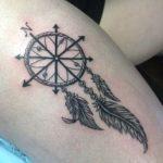 compass-dreamcatcher-tattoos