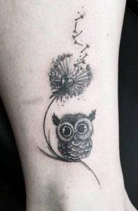 dandelion-owl-tattoo