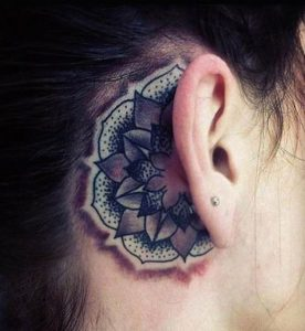 decorative-behind-the-ear-tattoo
