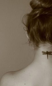 dragonfly-back-of-neck-tattoo