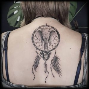 elephant-dreamcatcher-tattoos