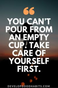 empty cup inspirational depression quote