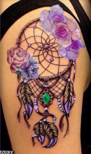 fancy-dreamcatcher-tattoos