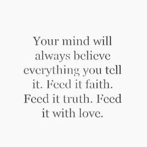 feed it love motivational quote
