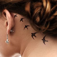 five-birds-behind-the-ear-tattoo
