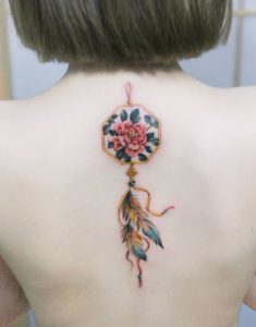 floral-dreamcatcher-tattoos