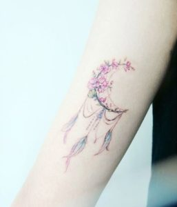 half-dreamcatcher-tattoos