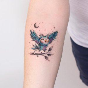 happy-moon-owl-tattoo