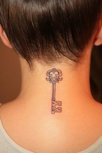 key-back-of-neck-tattoos