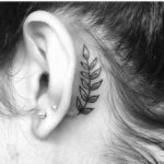 leaves-behind-the-ear-tattoo