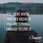 live it inspirational depression quote