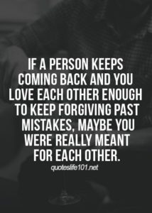 meant to be forgive me quote