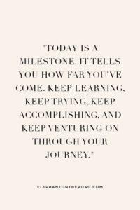 milestone inspirational graduation quote