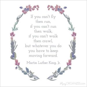 moving forward inspirational depression quote