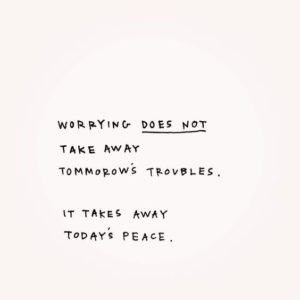 peace inspirational anxiety quote