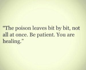 poison inspirational depression quote