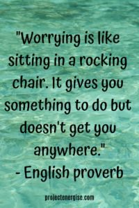 rocking chair inspirational anxiety quote