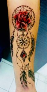 rose-dreamcatcher-tattoos