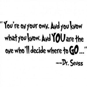 seuss inspirational graduation quote