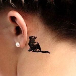 shadow-cat-behind-the-ear-tattoo