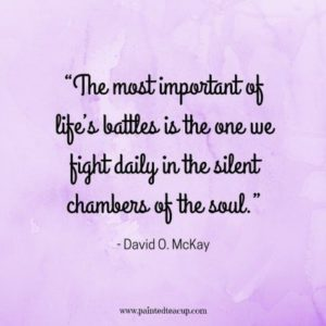 silent battle mental health quote