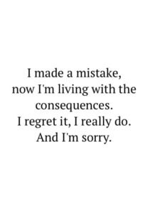 sorry forgive me quote