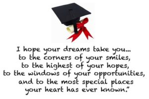 special places inspirational graduation quote