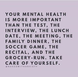 take care mental health quote