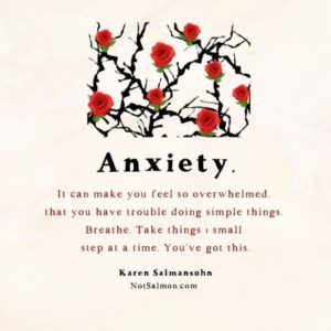 trouble inspirational anxiety quote