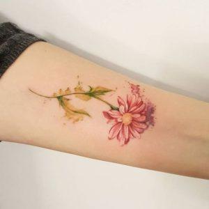 watercolor-daisy-flower-tattoo