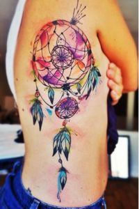 watercolor-dreamcatcher-tattoos