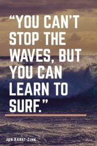 waves inspirational anxiety quote